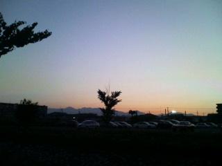 那須の夕焼け